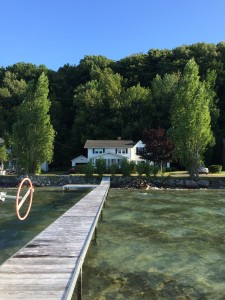 The lake house, from the dock