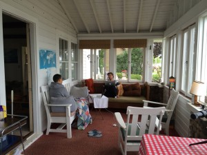 Drew and Dennis in the sunroom