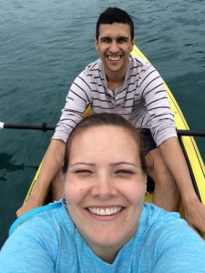 Me and Dennis in the double kayak