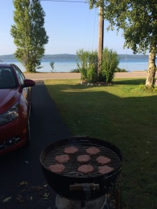 I've never grilled with such a great view