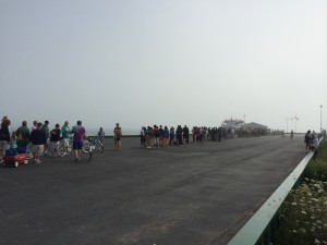 The line for the ferry