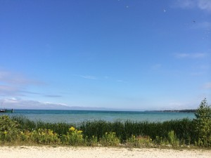 The view from Mackinaw City