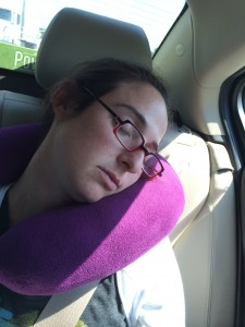 Jess and I slept in the back seat