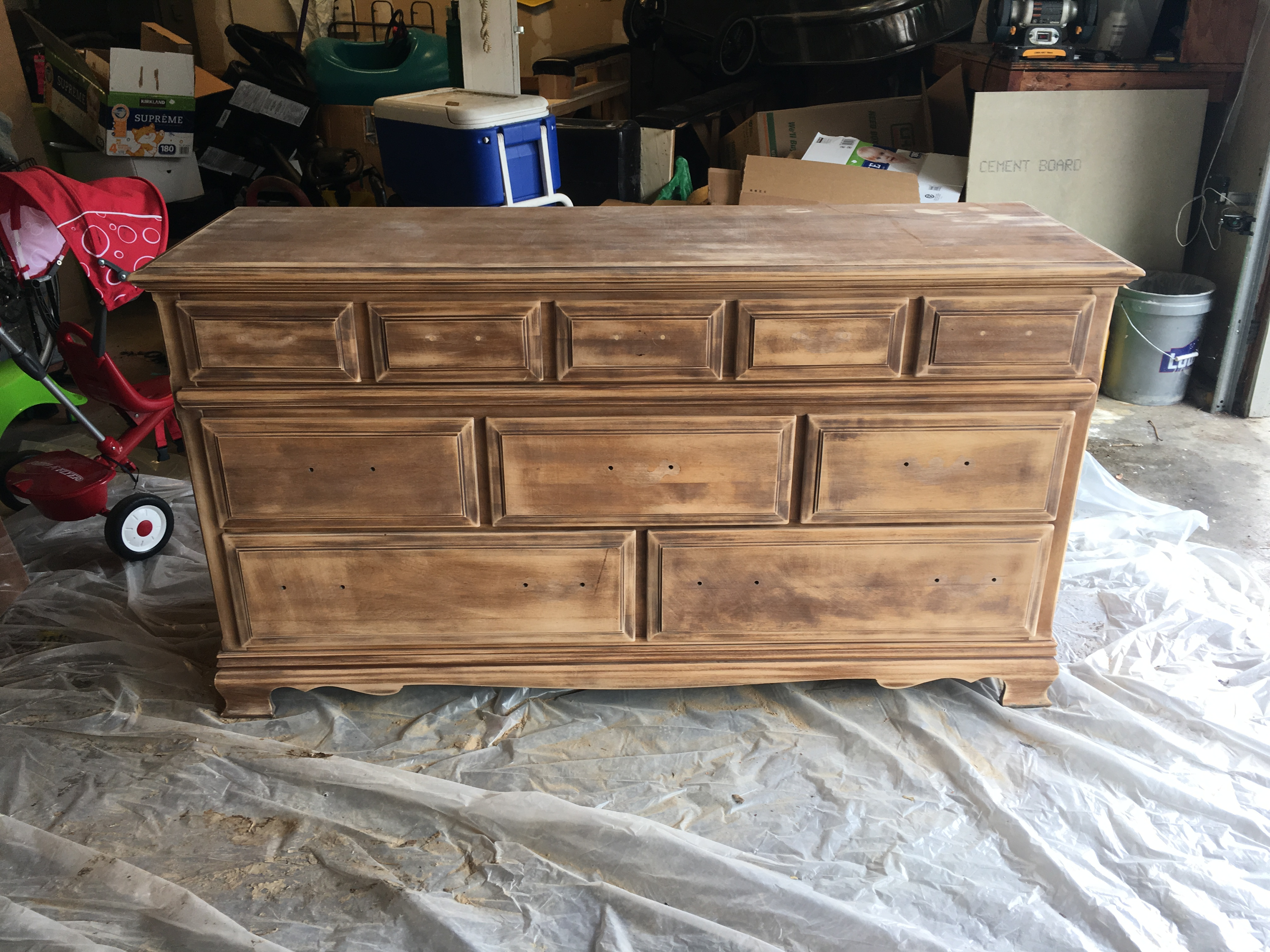 I Also Used Wood Filler To Fill The Holes On Top 5 Drawers Since Was Going Replace 2 Hole Drawer Pulls With A Round Center Pull